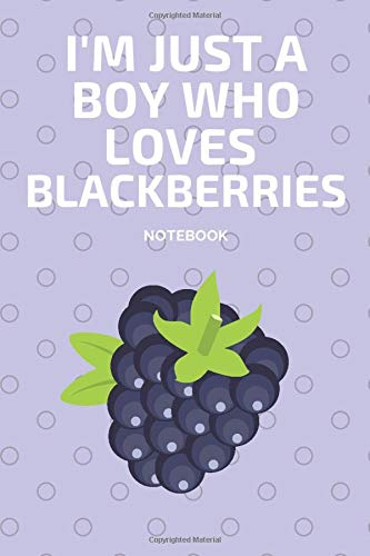 I'm Just a Boy Who Loves Blackberries Notebook: Journal Gift Convenient size 6'' x 9'' 120 Page.