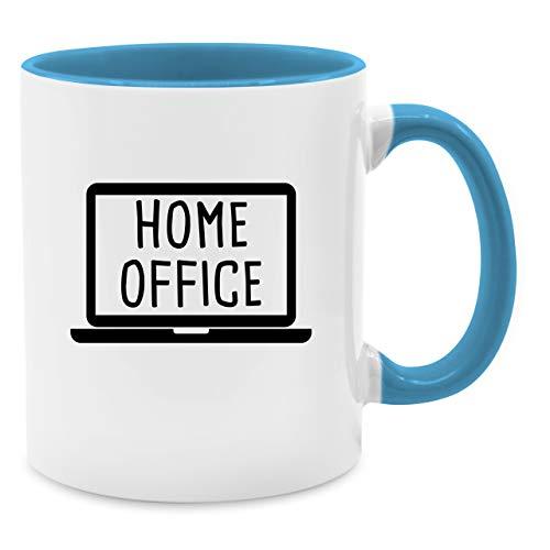 Shirtracer Tasse Berufe - Home Office Laptop - Unisize - Hellblau - Tasse Home Office - Q9061 - Kaffee-Tasse inkl. Geschenk-Verpackung