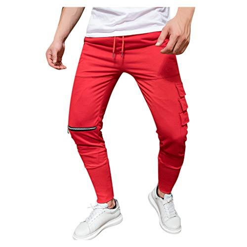 Jogger Cargo Chino jeans broek elastische taille heren lange vrije tijd sportbroek slim fit ruiten joggingbroek XXXL grijs