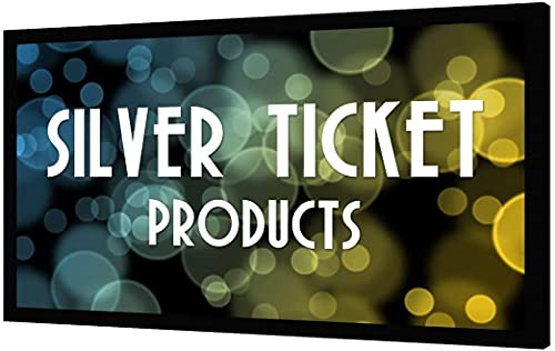 "STR-169120-WAB Silver Ticket 4K Ultra HD Ready Cinema Format (6 Piece Fixed Frame) Projector Screen (16:9, 120"", Woven Acoustic Material) (Renewed)"