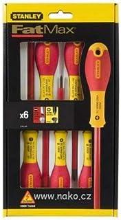 Stanley DIY Tool Screwdriver Set 6Pcs SL + PZ Insulated (VDE) 0-65-443 FatMax