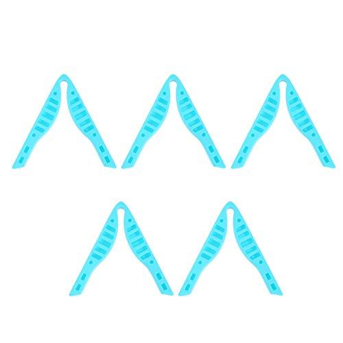 EXCEART 5Pcs Almohadillas de Tira Antivaho para El Puente de La Nariz Almohadillas de Silicona Antivaho para La Protección Nasal Hoja de Sellado del Cojín de La Nariz Marco de Soporte