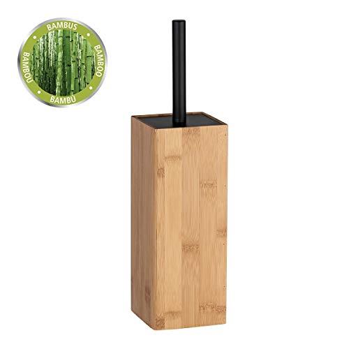 WENKO WC-Garnitur Padua - WC-Bürstenhalter, Bambus, 10 x 38 x 10 cm, braun
