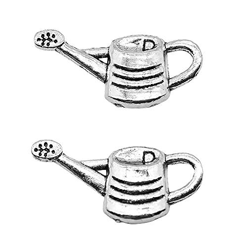 WANM Anhänger 10Pcs 12X25Mm Gießkanne Charms Anhänger Für Schmuckherstellung Zubehör Antike Silberfarbe Legierung Schmuck