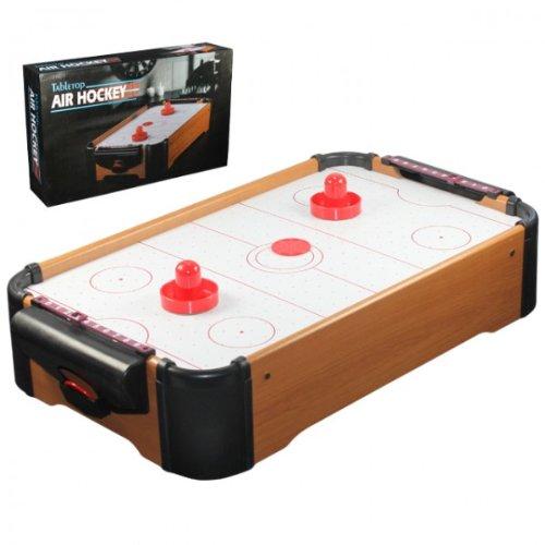 Air Hockey Tisch Platte inkl 2 Schläger Pusher Tabletop Airhockey NEU OVP