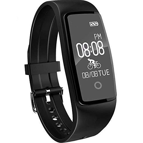 Willful Impermeable Pulsera Inteligente Pulsera Actividad Bluetooth con Pulsometros,Monitor de Dormir,Monitor de Calorías,Podómetro,Monitor de Ritmo Cardiáco,Notificación de mensaje,Monitor Cardio,Pulsera Deporte para Android y IOS Teléfono móvil