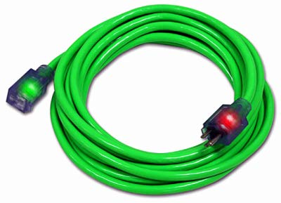 CENTURY WIRE & CABLE D17334015 15' 14/3 Green extension cord