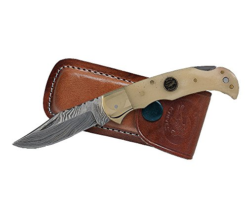 Croco Knives Klappmesser Damascus 11 Klingenlänge 7 cm, 16.7 cm, 333510