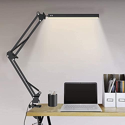 Lámpara de Escritorio,Elekin Lámpara de Mesa Clamp,Lámpara de Escritorio LED Lámpara de...
