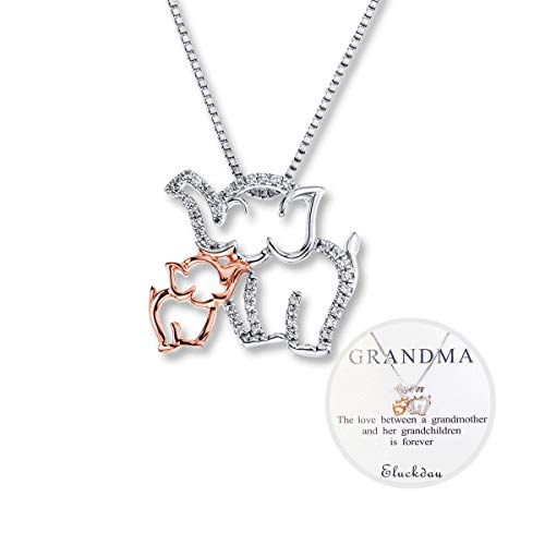 Mom Necklace Mom and Baby Elephant Necklace Mother and...