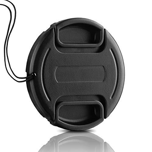 55mm Objektivdeckel * Perfekter Fester Halt * Snap-On Universal-Ersatzkappe Center Pinch Kameradeckel Linsenschutz Schutz-Kappe Objektivschutz Objektivschutzdeckel für Canon Sony Nikon Sigma Tamron