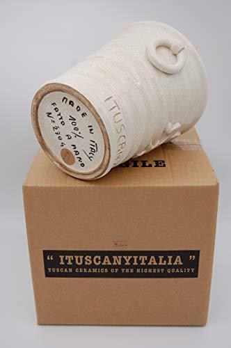 ITUSCANYITALIA | Secchiello Ghiaccio Vino Spumante - Porta Bottiglie di Vino - Vaso Bianco Moderno - Porta Spumante - Cestello Portaghiaccio - Portaghiaccio -