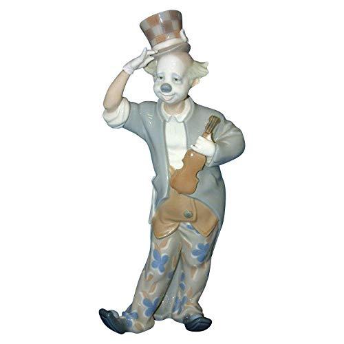 Lladro Clown with Violin Matte Finish Figurine