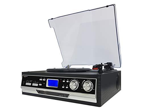 Sunstech PXR22 - Giradiscos con 3 velocidades (Radio, USB y función encoding) Color Negro