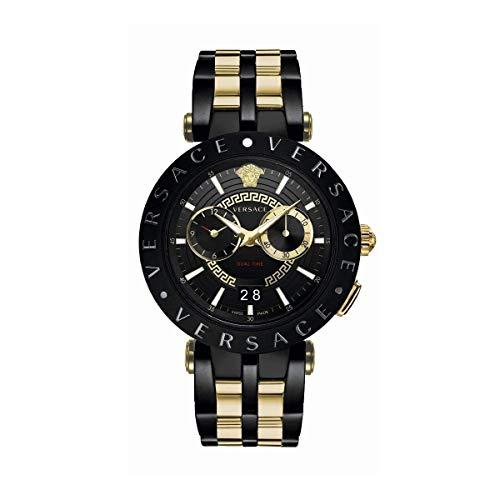 Versace Herren Armbanduhr Schweizer Uhr New V-Race.46MM.D/BLK B/bic IP2Nbicolor IP2n/IP Black VEBV006 19