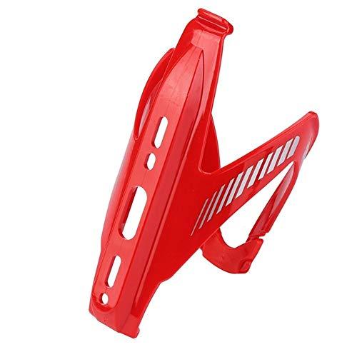 Byrhgood Bicicleta Bicicleta Botella de Agua Soporte de Botella de plástico Ajustable Ciclismo Montaña Jaulas de Bicicleta MTB Jaulas de Botella Accesorios de Ciclismo (Color : Red)