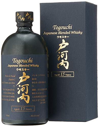 Togouchi 15 Years Old Japanese Blended Whisky mit Geschenkverpackung (1 x 0.7 l)