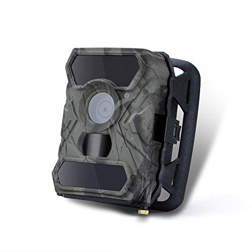 TRAACEM Hinterkamera 12MP 1080P Jagdkameras, 56 Stück IR LED Vivid Night Visition Wildkamera, Wildkamera Für Home Security Und Outdoor Nature Wild Scouting