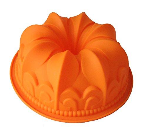 GMMH Original Molde para Cocina de Silicona XXL Molde con Forma esférica para Pan o - Naranja