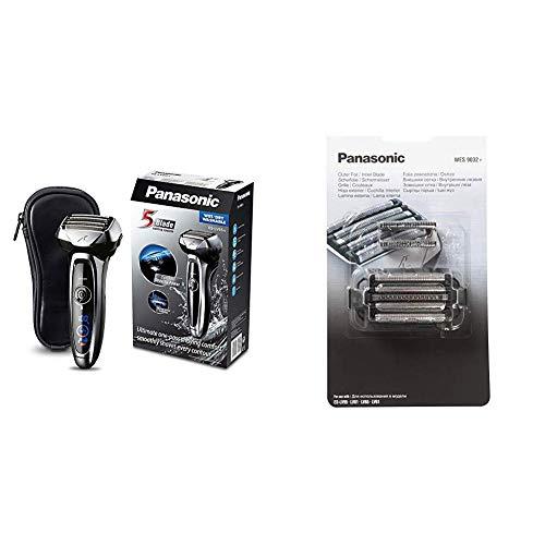 Panasonic ES-LV65-S803 Premium Wet & Dry - Afeitadora Eléctrica para Hombre de Láminas para Barba Recargable + Panasonic WES9032Y1361 - Conjunto de hoja interior y exterior para afeitadoras