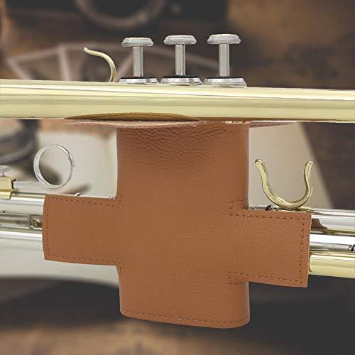 AMONIDA Accesorios de Trompeta, Cubierta de Trompeta marrón, fácil instalación para Tocar el Concierto de la Tienda de Instrumentos Musicales entusiastas de la música