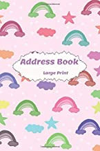 Address Book Large Print: Alphabetical Index A-Z . With Tabs Friends & Family birthdays & addresses & phone numbers and More ;  nice designs  For Seniors & Mom & women & men (Volume 55Z )
