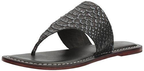 Bernardo Women's Monica Flat Sandal, Black Snake, 5 M US