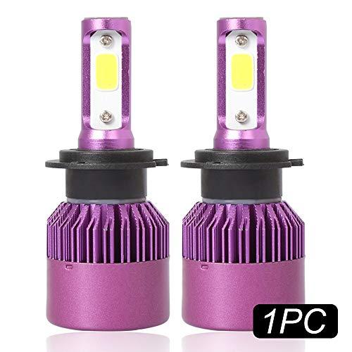 Ampoule De Phare De La Voiture Led De H7, 1Pc 36W 8000Lm 6500K Blanc Ampoule De Phare De Basse Sécurité De La Voiture Ip68 Led Violet Pourpre