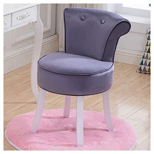 Eenvoudige kapstok, rond tapijt, kaptafel met rugleuning en zachte kussens voor piano, slaapkamer, kledingkast, voor