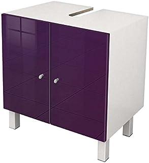 Amazon.fr : meuble salle de bain aubergine - Blanc