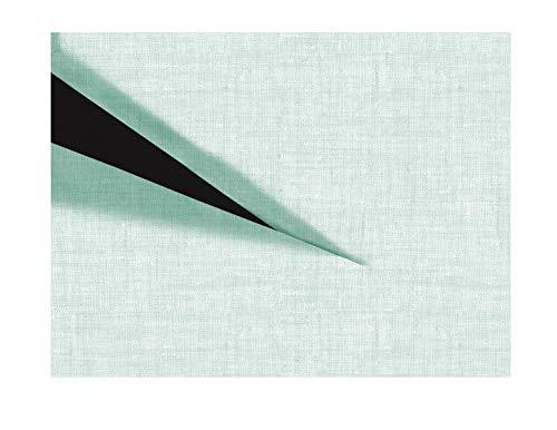 Zo!Home Hoeslaken Lino Split-Topper 180x200+12 cm. Mint Green
