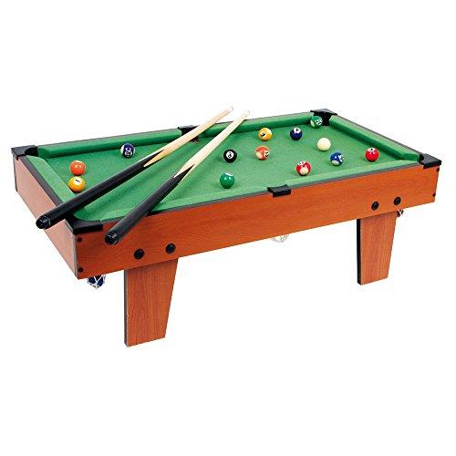 small foot 6706 Tischbillard Maxi aus Holz, ideal zum Mitnehmen, schult spielerisch die Hand-Augen-Koordination