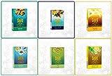Lote de 6 sabores de Soex Mezcla del Océano Explosión Tropical Earl Grey Menta Verde Kiwi Limón con Menta Melaza de Shisha hierbas fumar pipa de agua Cachimba Narguila Sin nicotina Sin tabaco