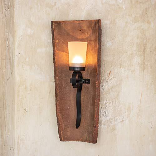 Antikas - Windlicht Dachziegel antik, Kerzenhalter, Dachpfanne, Wandhalter für Kerze