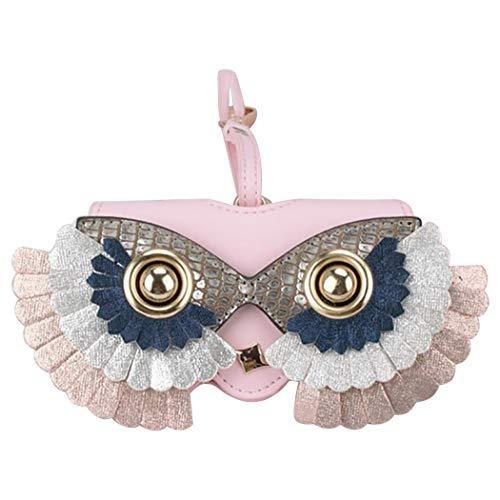 Bageek Zonnebrillen Hoesje Decoratieve Ophangbril Hoesje Tas Charm Brillen Tas Case, roze, 4