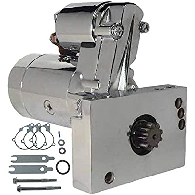 DB Electrical SHI0032-C Starter Compatible With/Replacement For Chevy 305 350 454 Mini Super Torque Series 3 HP 4:1 Gear Reduction Compatible With/Replacement For 153 or 168 Tooth Flywheels Chrome