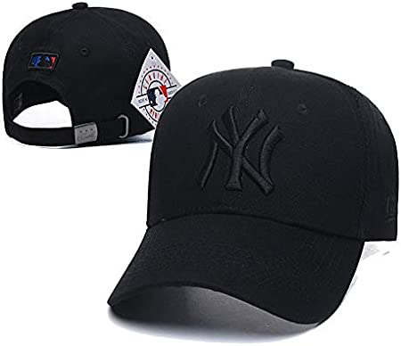 Black-White Logo Wall Stickz AutoParts NY Baseball Hat Adult Men /& Women for New York Yankees Cap