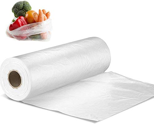 FungLam ビニール袋 厚手 透明 30×40cm超大型ポリ袋、家庭用 業務用レジロールポリ袋(350枚/巻)