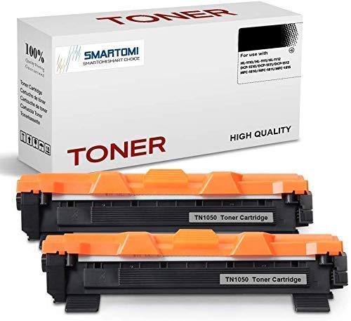 SMARTOMI - 2 Cartuchos de tóner Negro compatibles con Cartuchos TN1050 para...