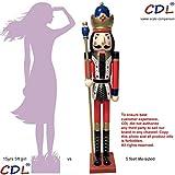 CDL XL/5 pies/150 cm/5 pies/5 pies/150cm tamaño natural grande/gigante rojo Navidad de madera Cascan...