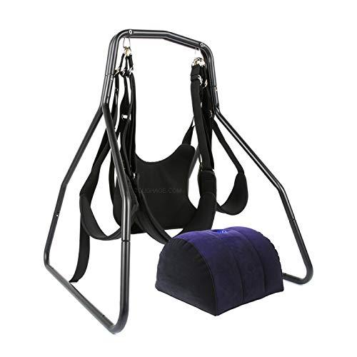 SDWCWH Columpio Giratorio Interior 360 Sling Portátil para Mujer - Negro - 83 * 73 * 70cm