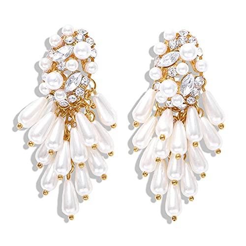 WULINCUN Pendientes de Perlas Pendientes de Perlas Regalo de la Mujer de la Tira