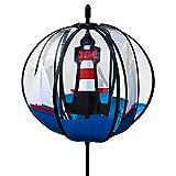CIM Kugel Windspiel - Satorn 28 Roter Sand - UV-beständig und wetterfest - Kugel: Ø28cm, Gesamthöhe: 100cm - inkl. Standstab und Bodendübel (Roter Sand)