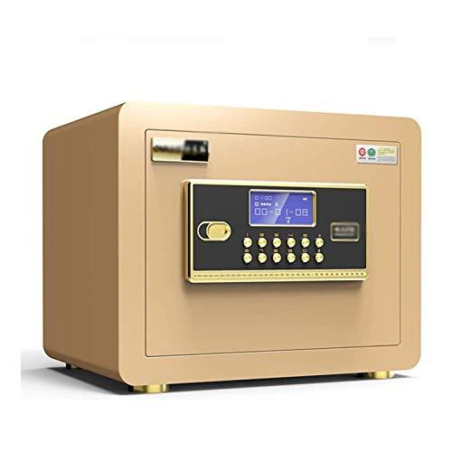 HDZWW Kennwort Box Office Sicherheit Tresor Bett-Speicher-Schrank Schrank Tresore (Color : Gold, Size : 35 * 25 * 25cm)