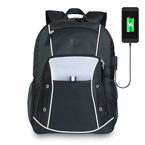 Backpack Laptop up To 15.6 - Best Computer Backpack For Laptops 13 14 15 - College Student Laptop Backpack USB Charging - Work Business Backpack Men Women - Travel Carry On Backpack - Black