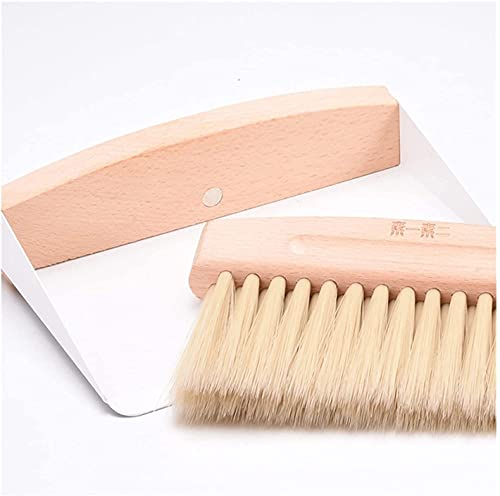 Scopa di Paglia, Brusco Broom Hand Broom Mini Broom Set, Soft PP Setola in PP Maniglia in Legno, Design Magnetico Prova Antipolvere per la Pulizia Detritus, Tastiera, Angolo