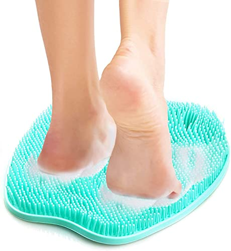 Shower Foot Massager Mat Bath Massage Pad Shower Foot Massager Scrubber & Cleaner Acupressure Mat for Feet with Non-Slip Suction Cups to Improve Circulation,Exfoliation,Reduce Feet Pain