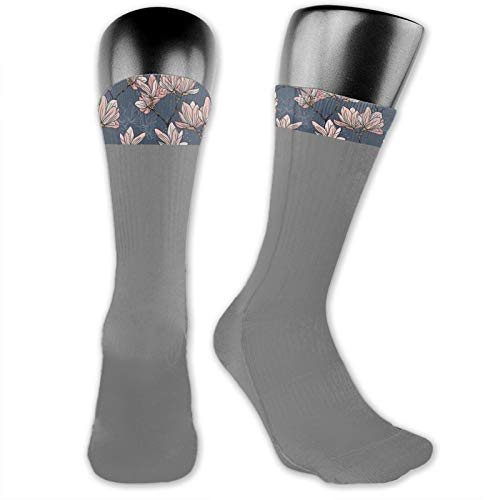 Socks Cute Funny Cotton For Summer,Pattern With Magnolia Flowers In Japanese Style Tender Asian Nature Garden,Running Outdoor Recreation,Trainer Socks for Men and Women