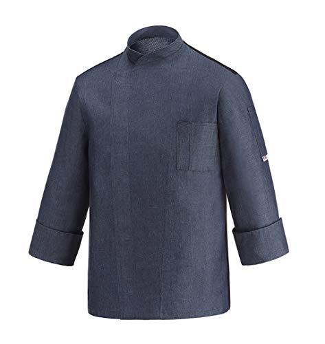 EGOCHEF - Giacca Cuoco OTTAVIO Manica Lunga (XXL, Jeans)