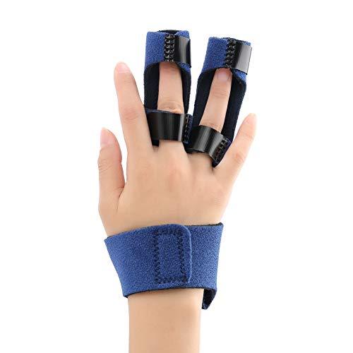 Instelbare vingerorthese, vingerhamer rail voor triggerfinger vingersteun voor gebroken vingers en strekken pijnverlichting bij artritis, banden, wondfingerorthese.